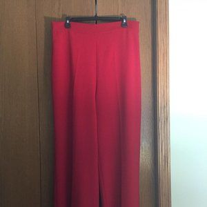 ZARA Red Wide leg High Waist Pants